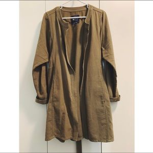 Madewell Olive Green Tie-Front Jacket